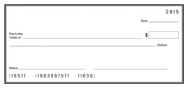 Simple Blank Check Template