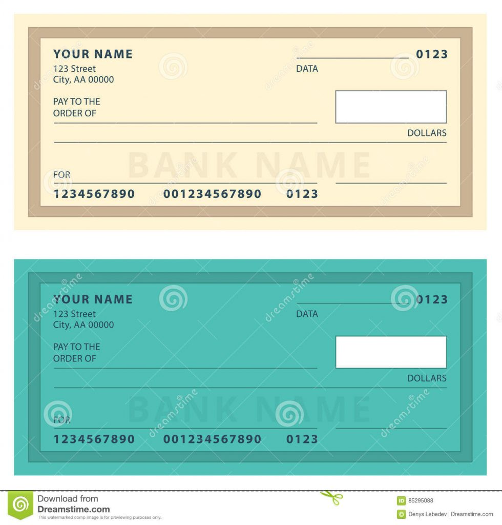 Multiple Blank Check Template