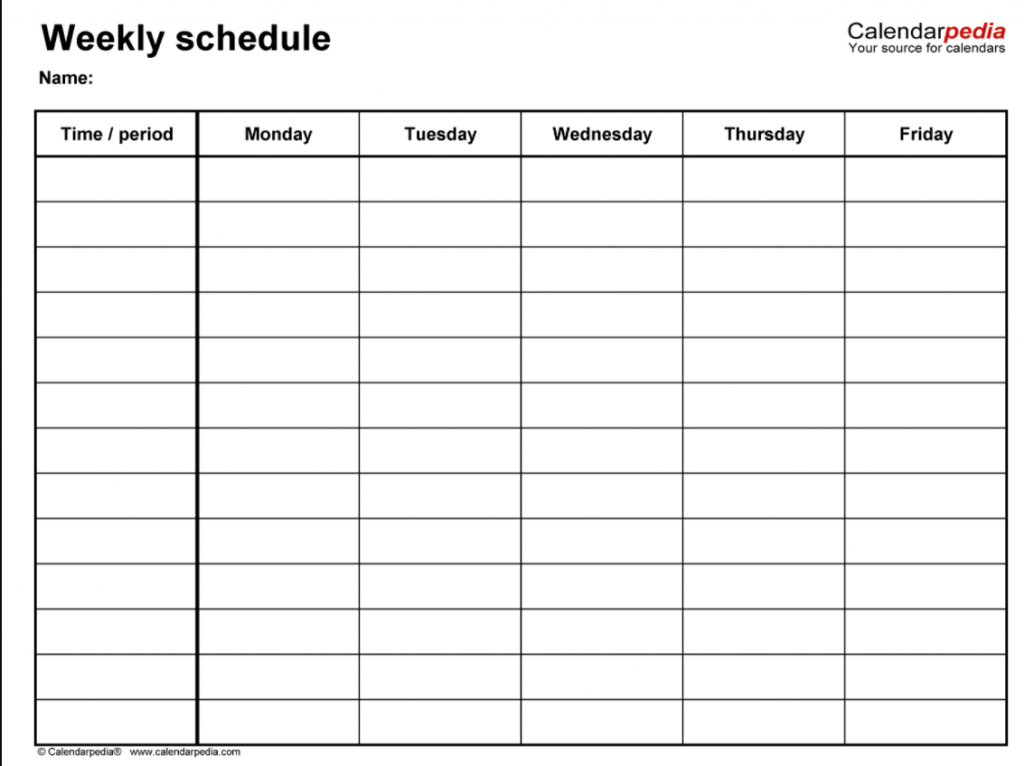 Fillable Weekly Planner Template