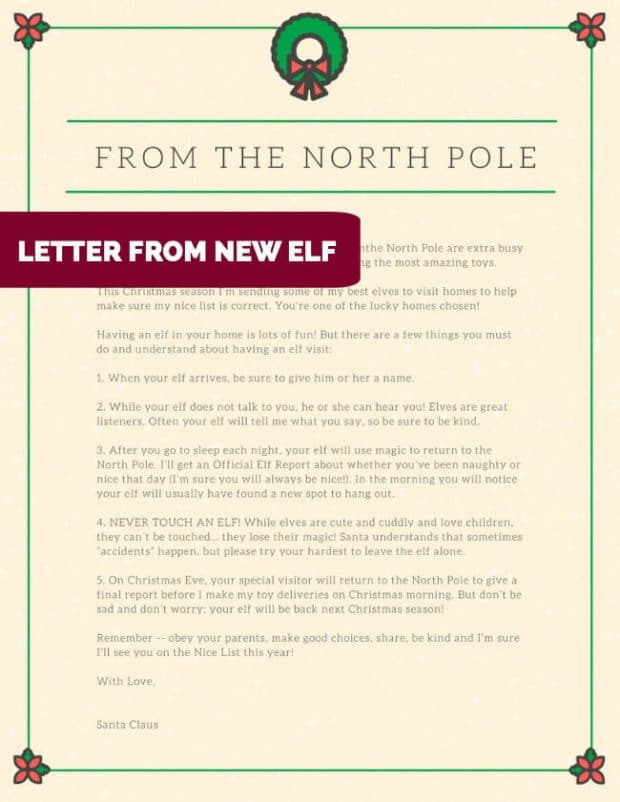 Letter from new Elf