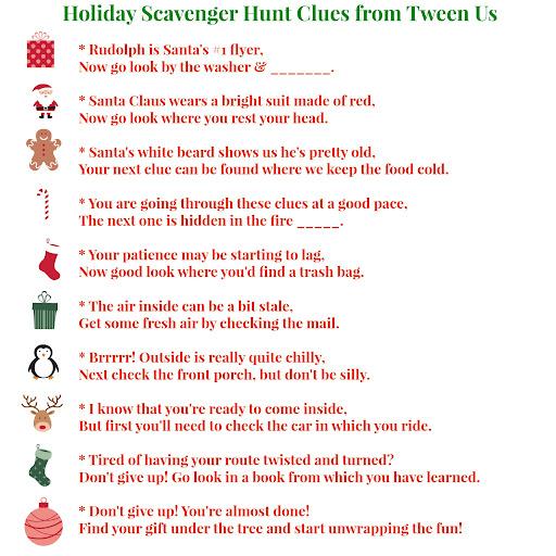 secret santa Scavenger hunt