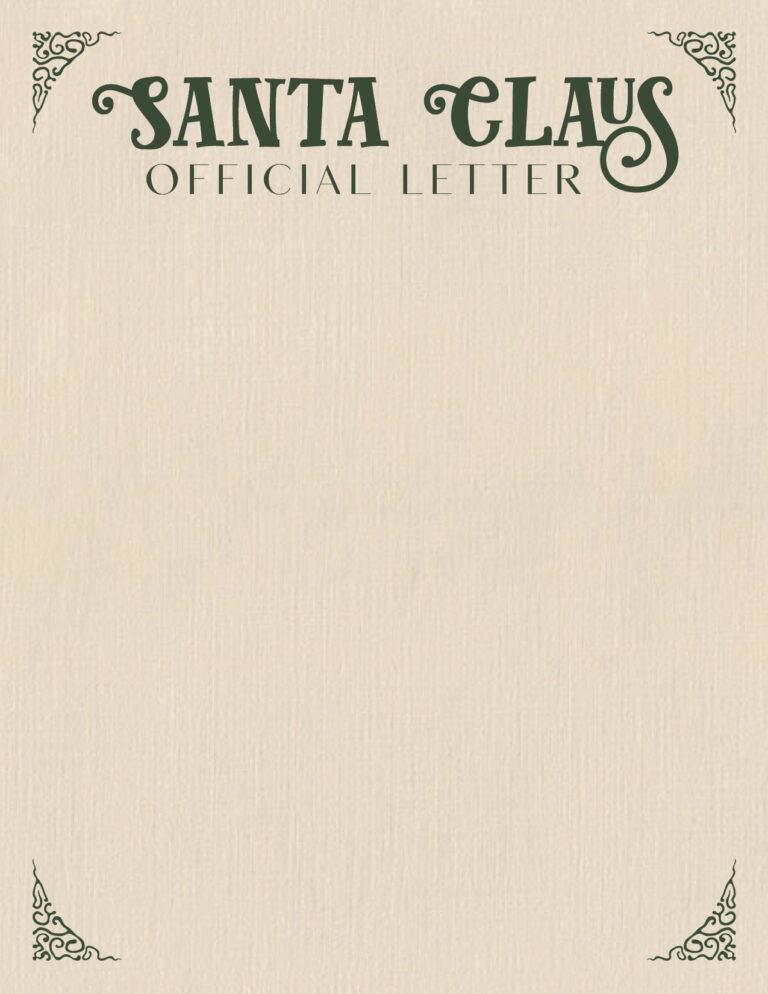 Santa official letterhead