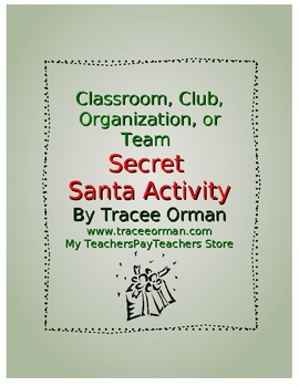 Secret Santa activity template