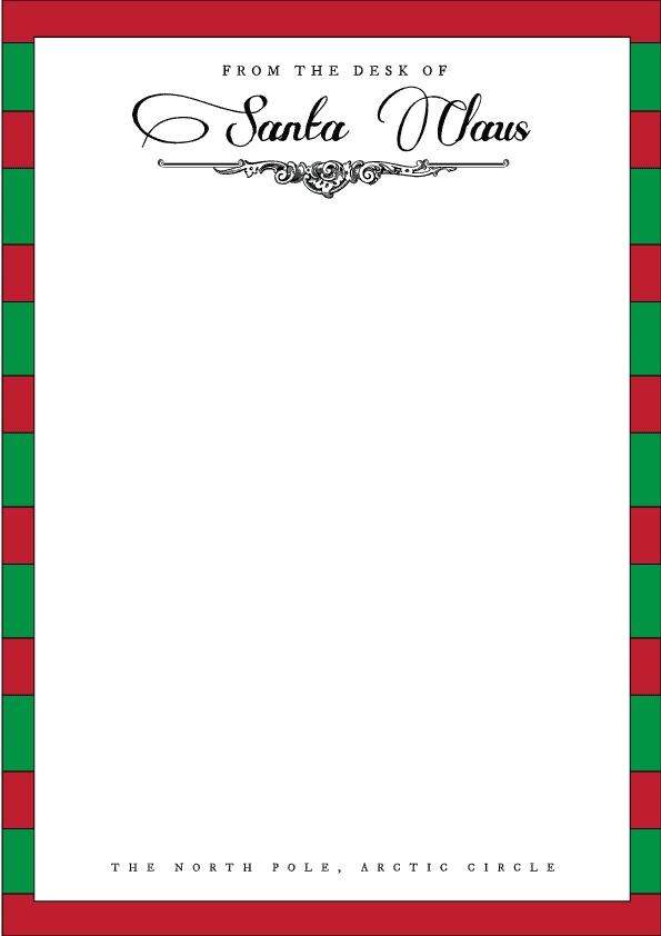 Christmas themed Santa letterhead